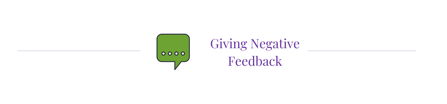 giving negative feedback to developers