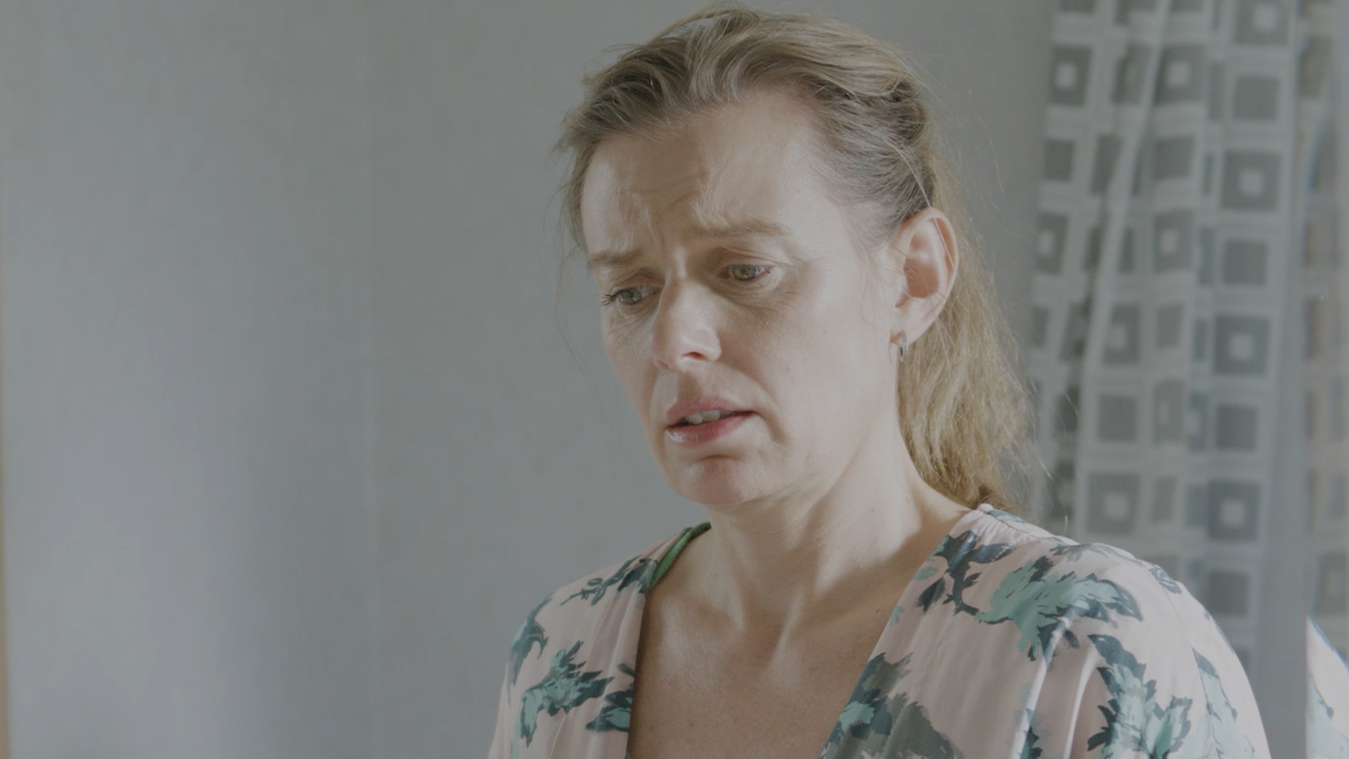The Mum from the commercial looking worried