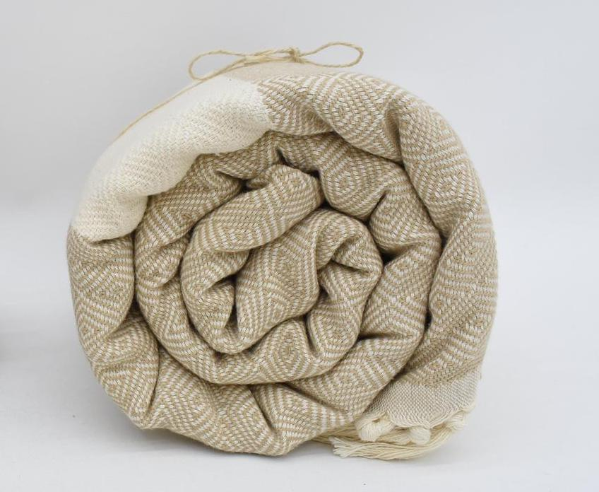 Turkish Throws are known for their great softness and their versatility as towels!