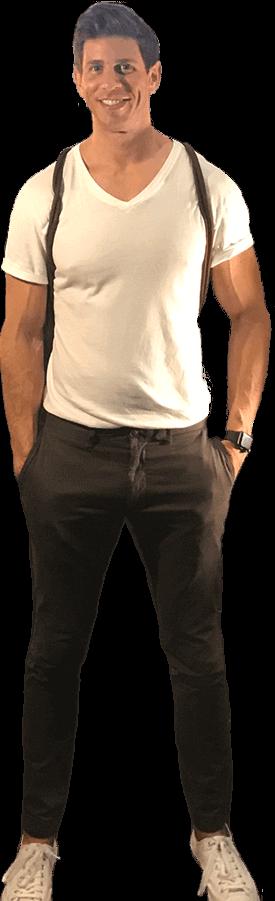Robbie Crabtree in white t-shirt