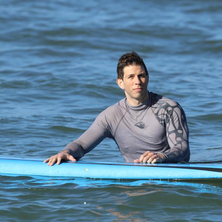 Robbie Crabtree surfing