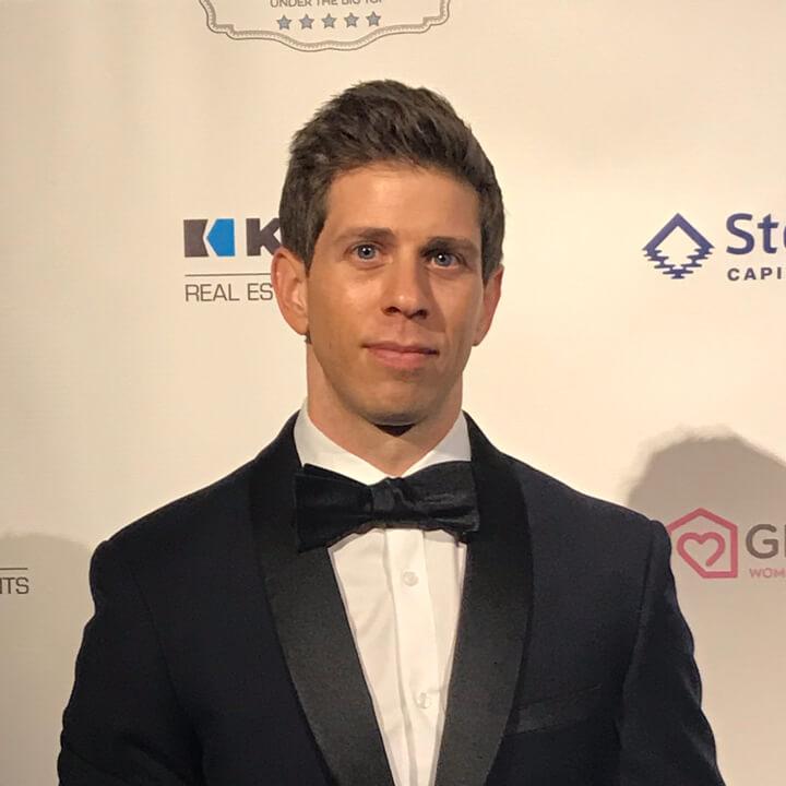 Robbie Crabtree in a tuxedo