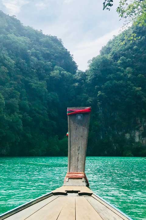 a boat in Thailand