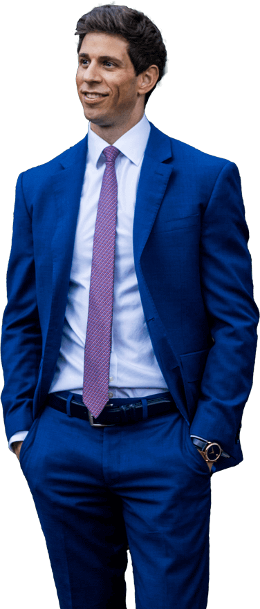 Robbie Crabtree in blue suits