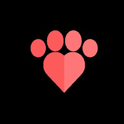 Anima Lefkada Logo  paw heart