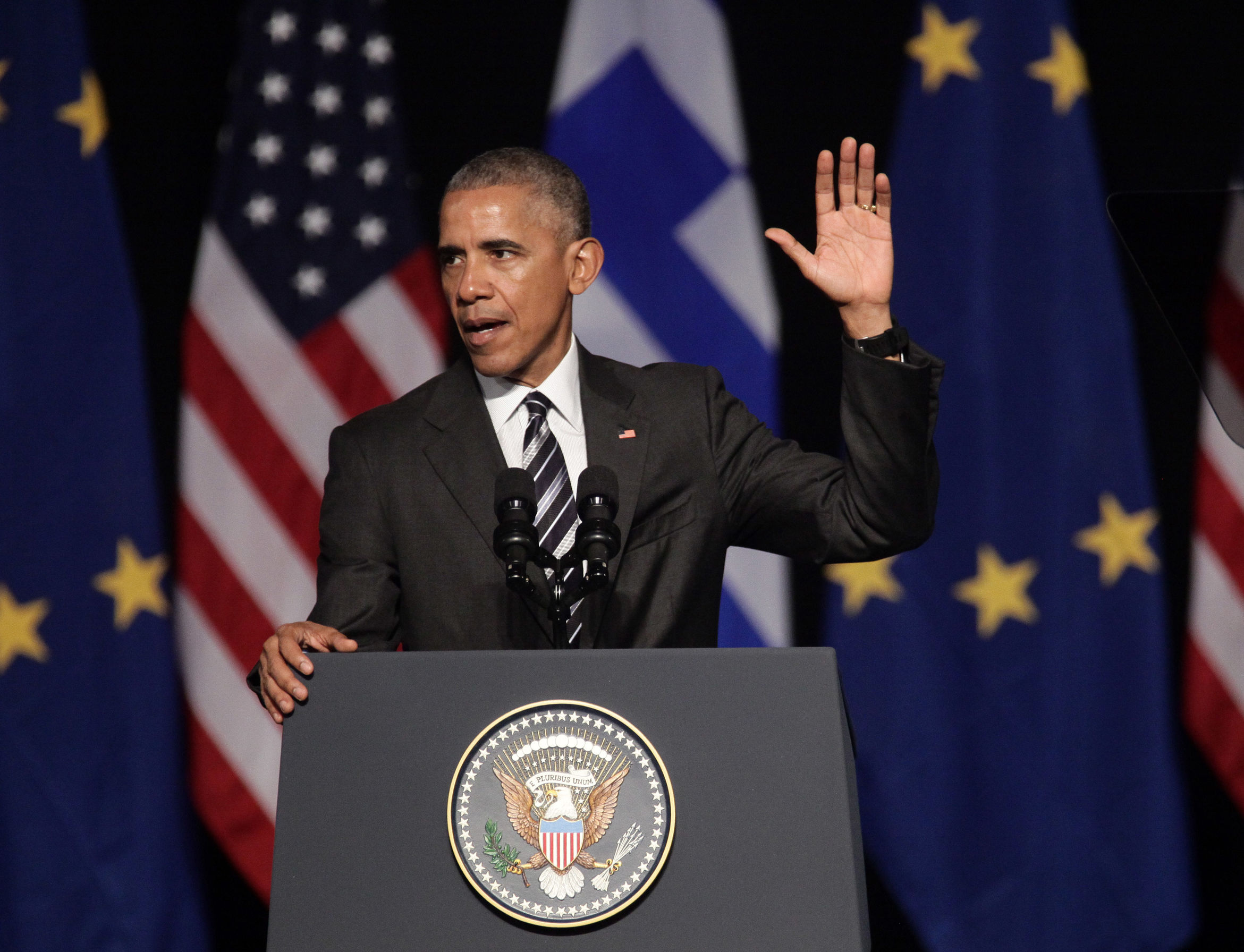 President Obama giving a speech