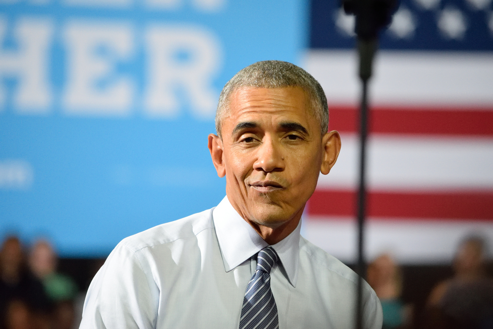 Picture of President Obama looking dismissive