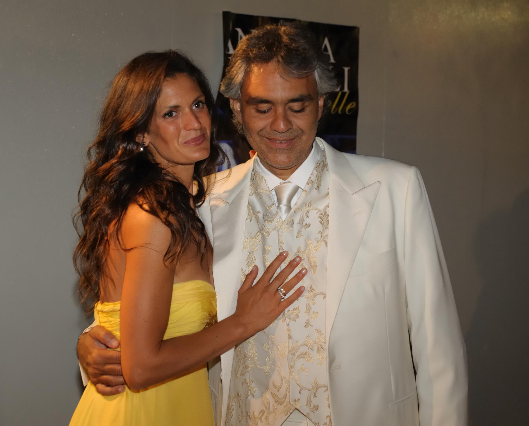 Andrea Bocelli with wife Veronica Berti