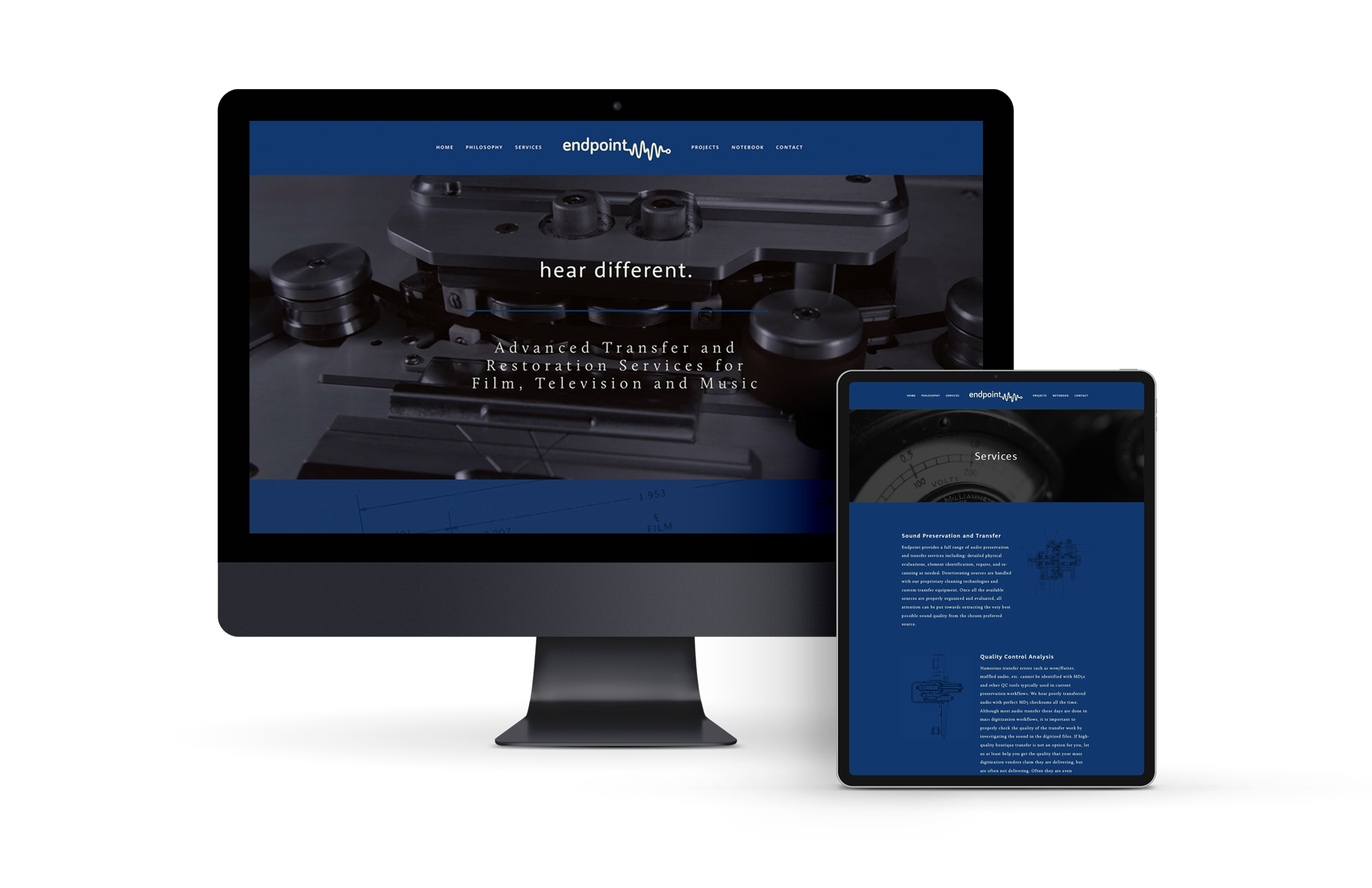 Custom web design that is responsive on all screens.