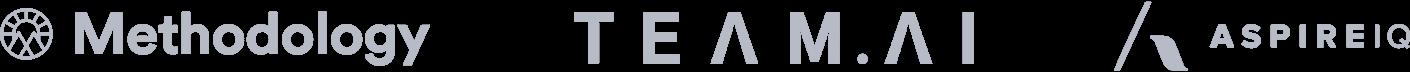 Methodology, Team.ai, and AspireIQ logos.