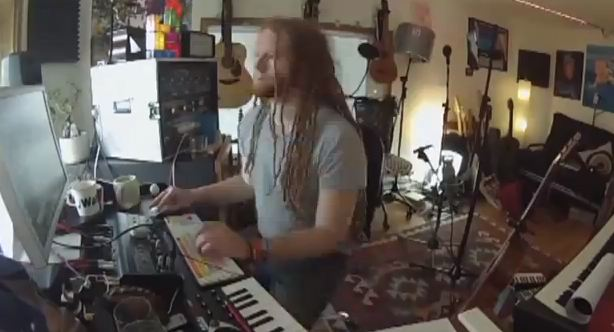 Newton Faulkner in studio