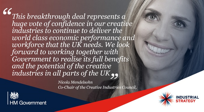 Quote from Nicola Mendelsohn, Co-Chair of the Creative Industries Council