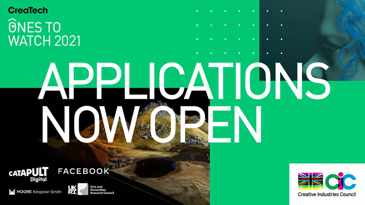 Applications Open for CIC CreaTech Ones to Watch 2021