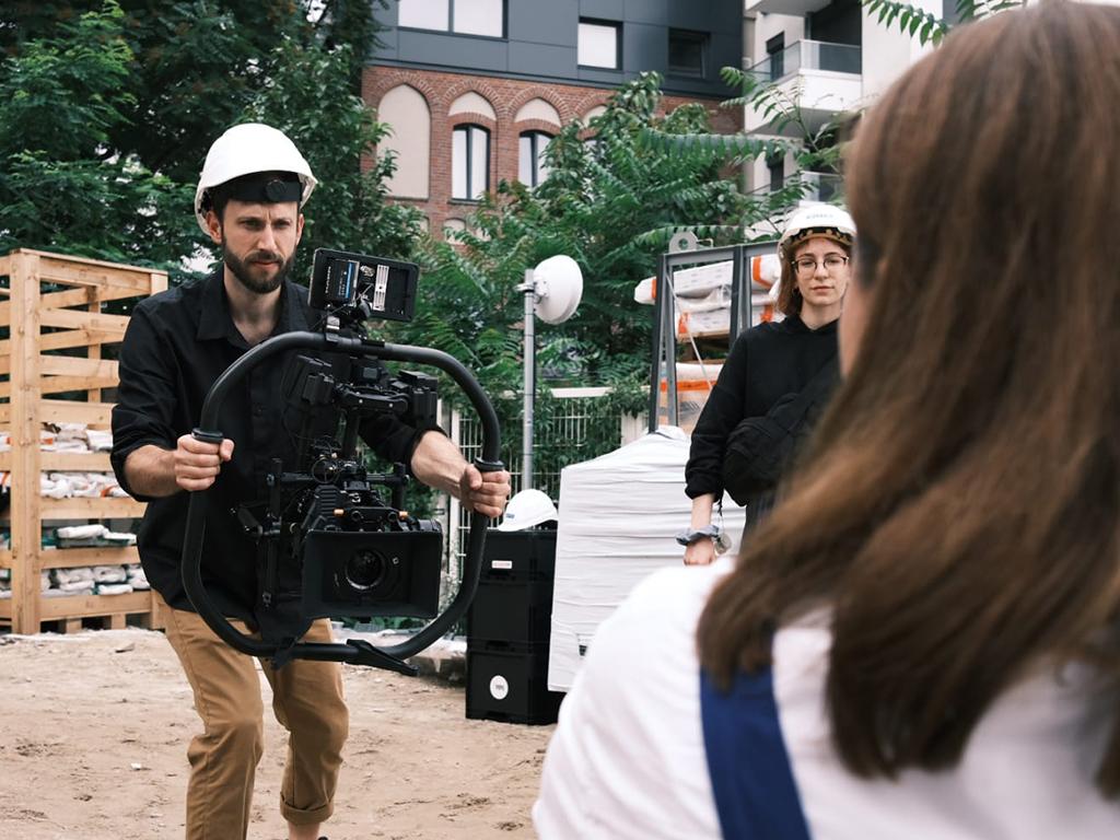 Behind the Scenes Imagefilm Dreh mit Kameramann