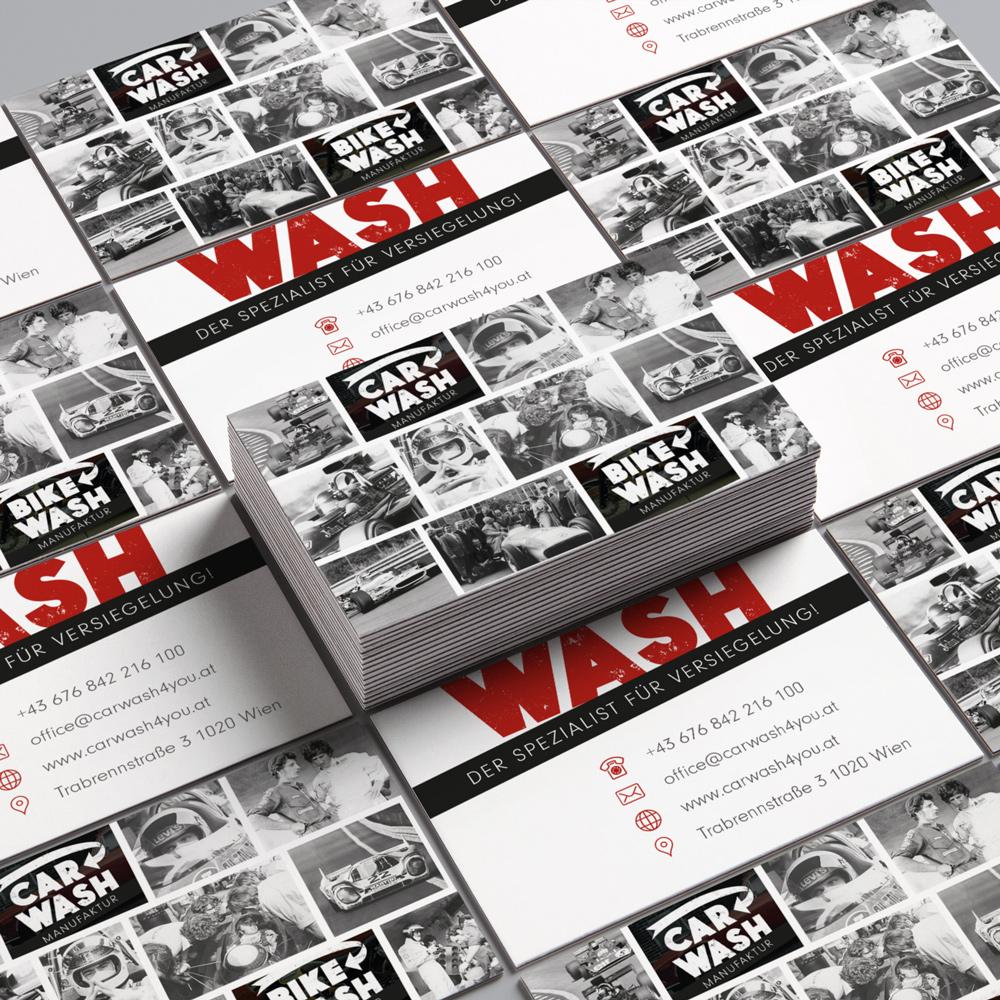 Carwash4you Autoaufbereitung Wien Oldtimer Visitenkarten