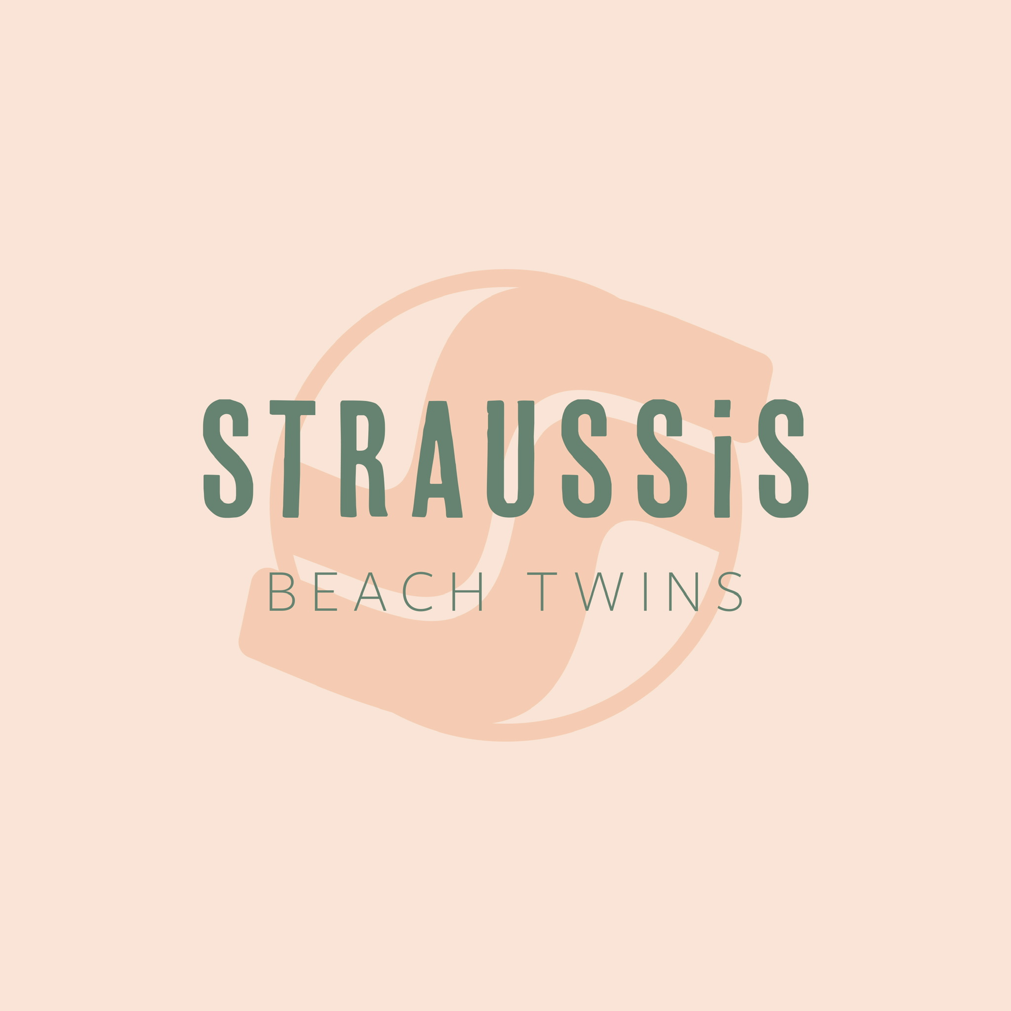 Straussis Beach Twins Logodesign Spotone
