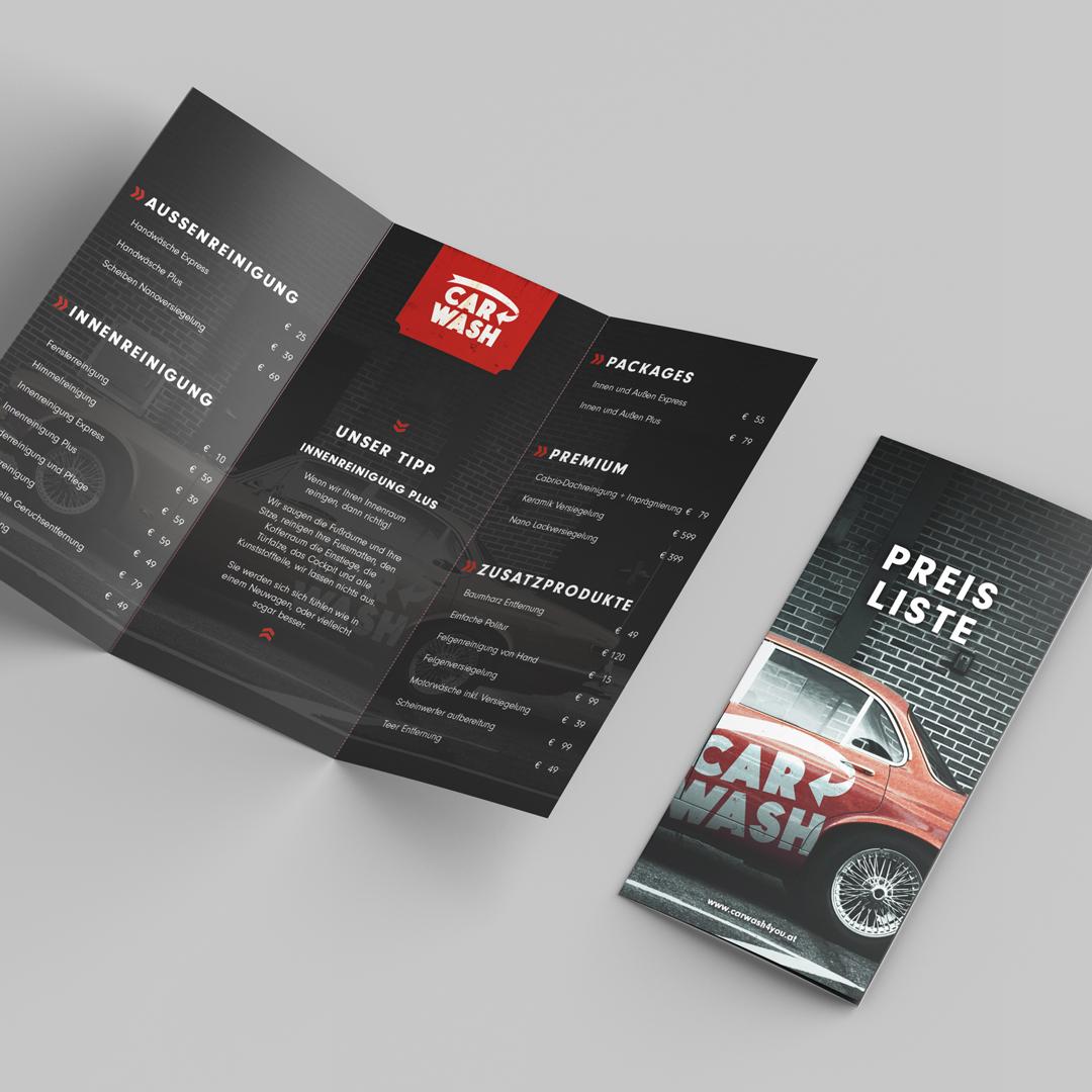 Carwash4you Autoaufbereitung Wien Oldtimer Preisliste Folder