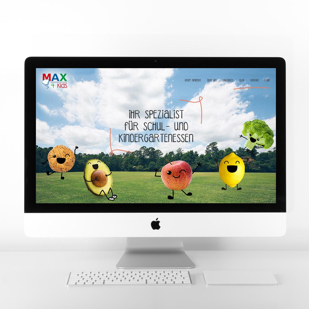 MAX4Kids Schulcatering Rebranding Gemuesemaxl Homepage Startseite