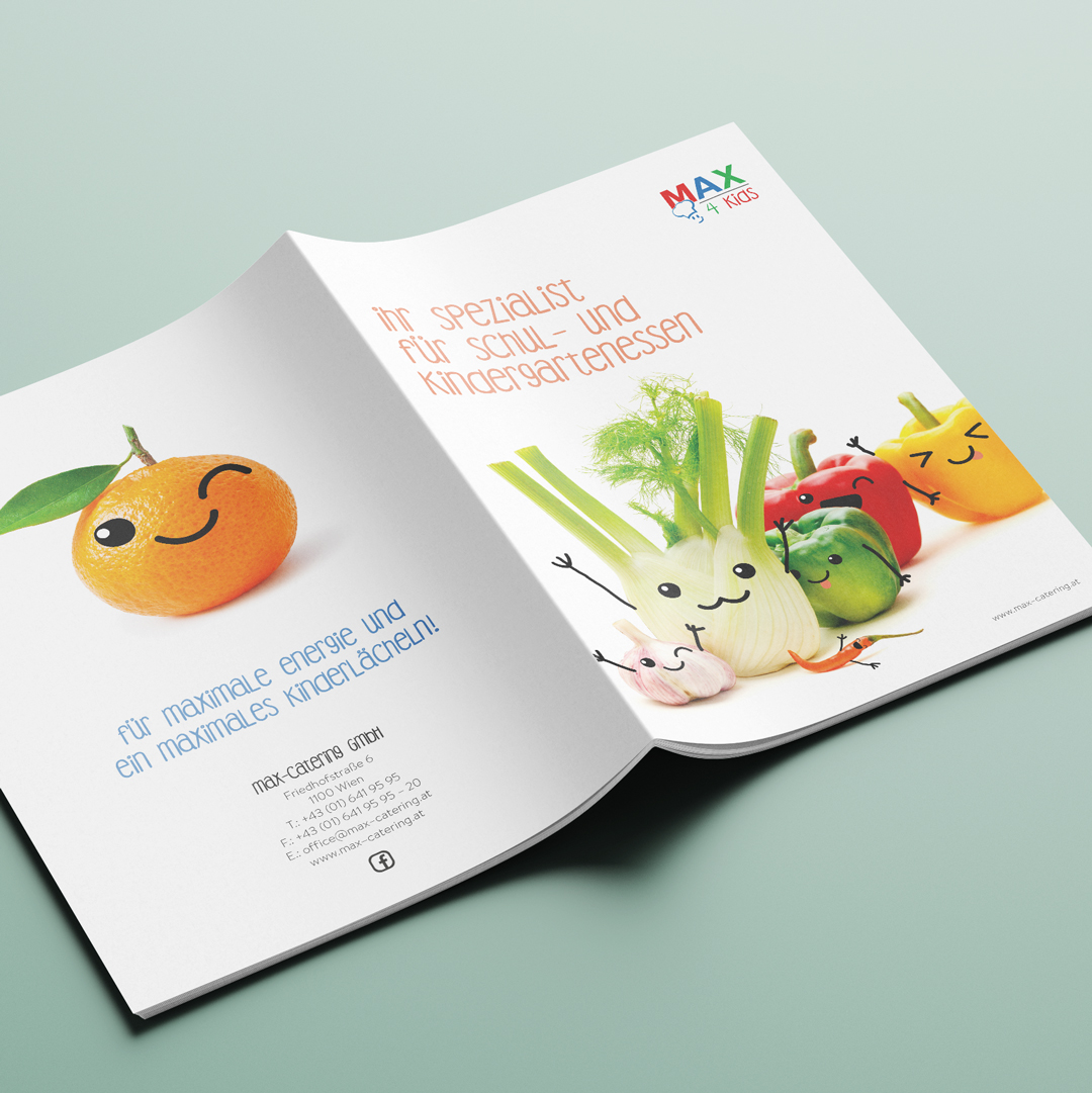 MAX4Kids Schulcatering Rebranding Gemuesemaxl Schulfolder