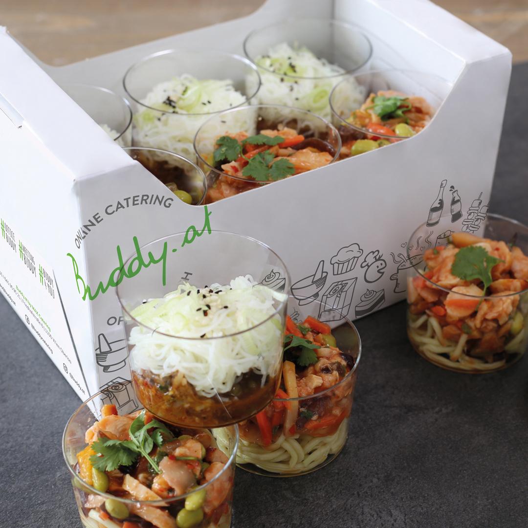 Buddy Online Catering Verpackung Box Vorspeisen
