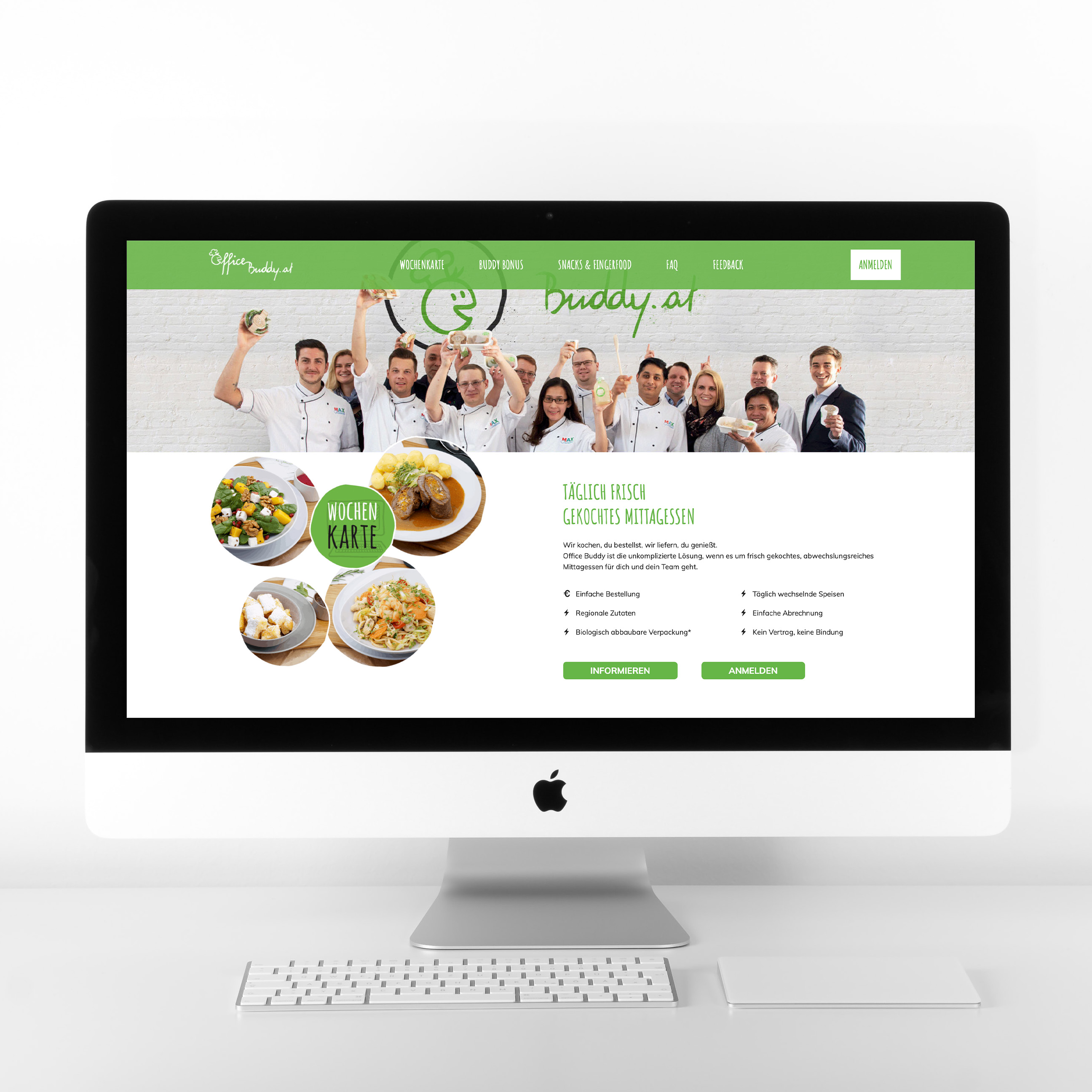Office Buddy Online Catering Homepage Startseite