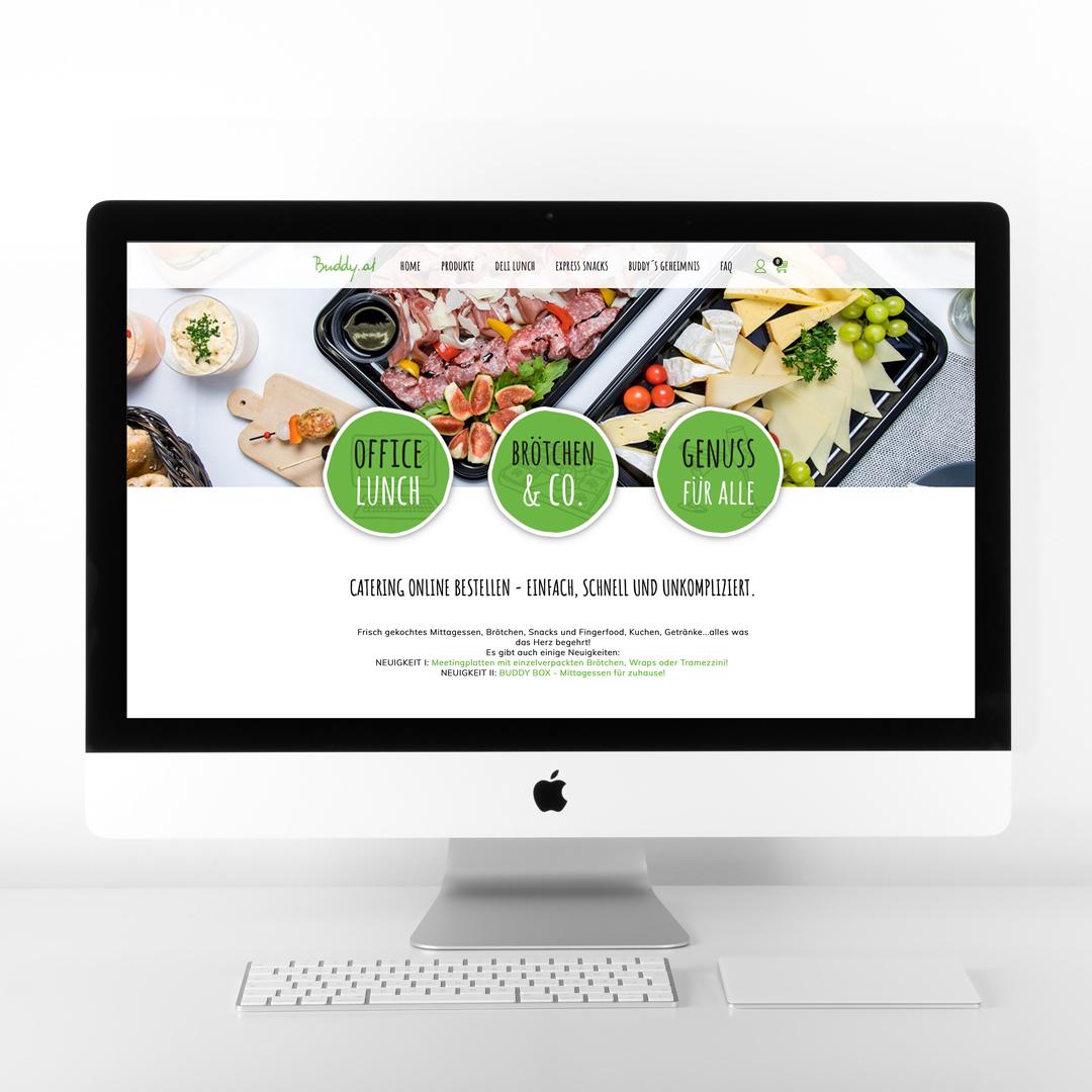 Buddy Online Catering Homepage Startseite