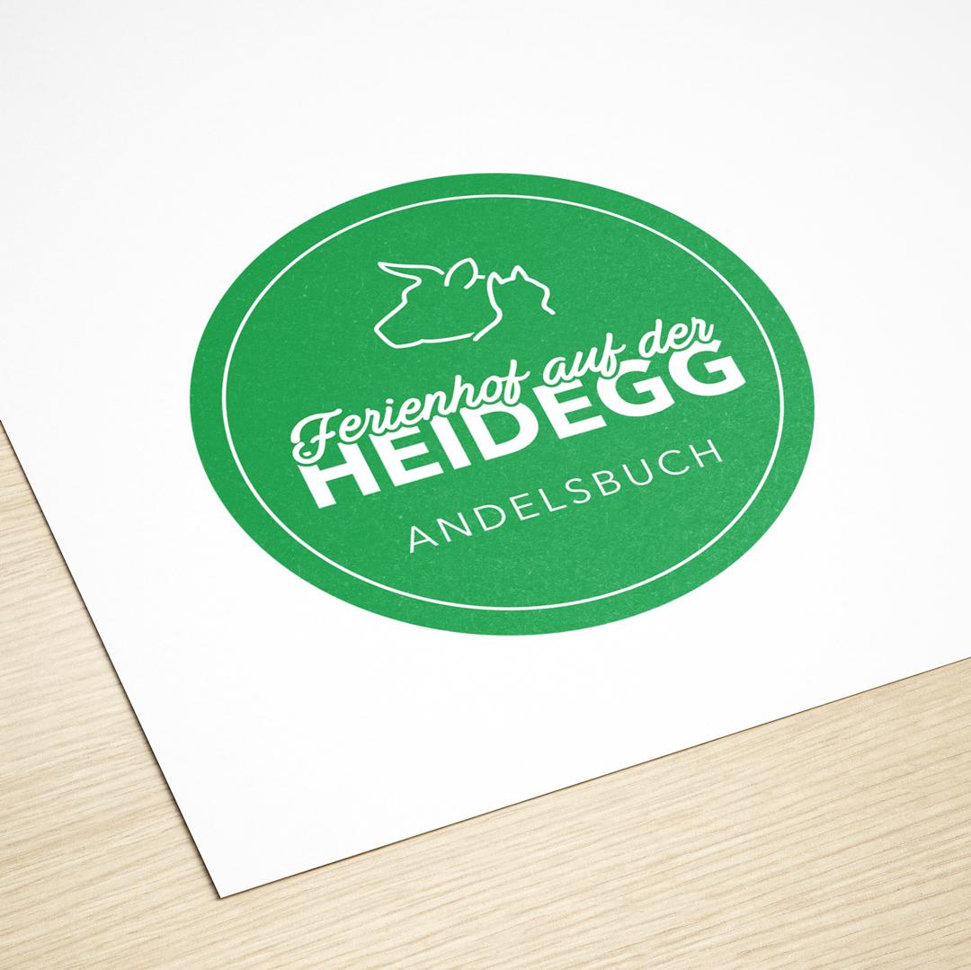 Ferienhof auf der Heidegg Andelsbuch Bregenzerwald Logodesign