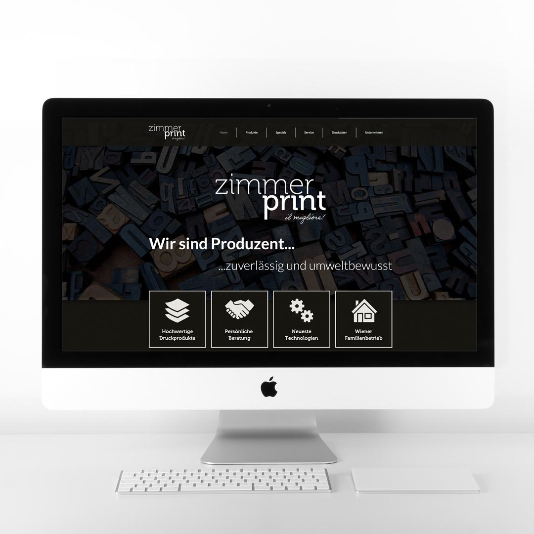 Zimmerprint Wien Homepage Webdesign Startseite Ottakring
