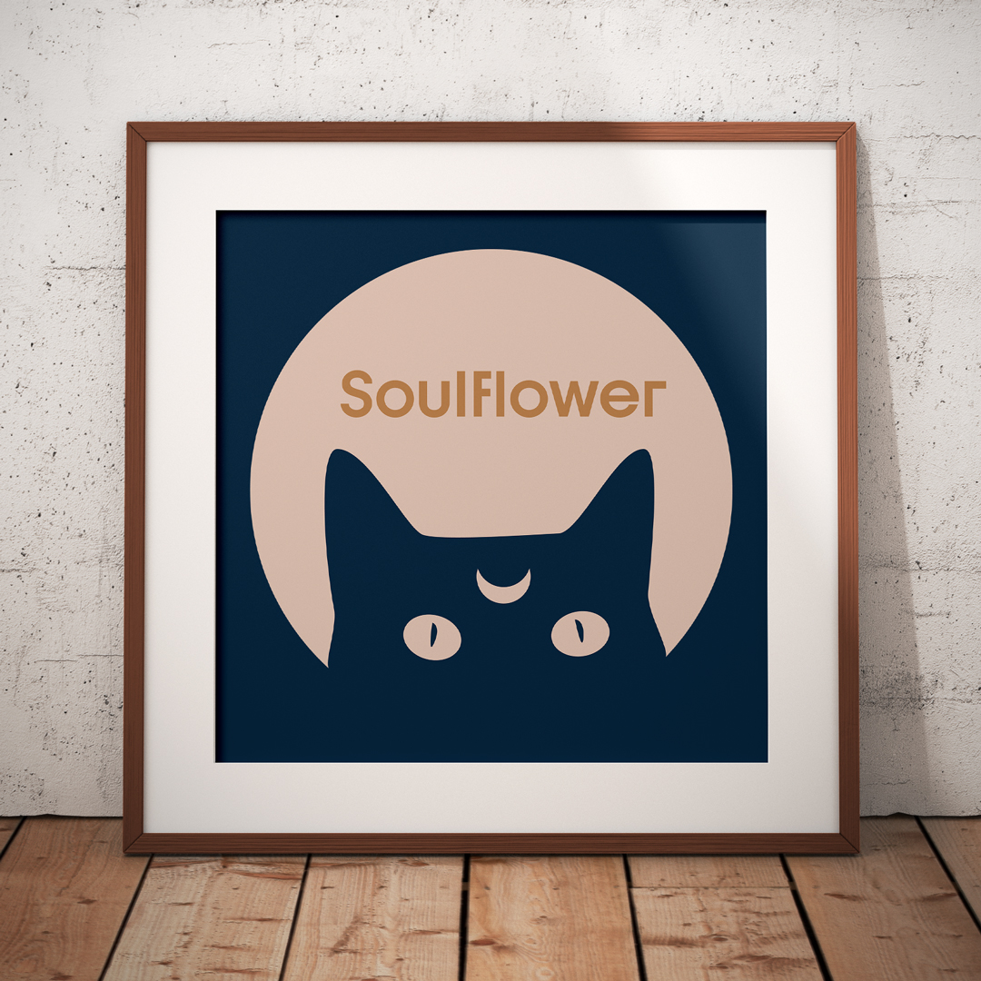 Soulflower Florist California Hand Logodesign