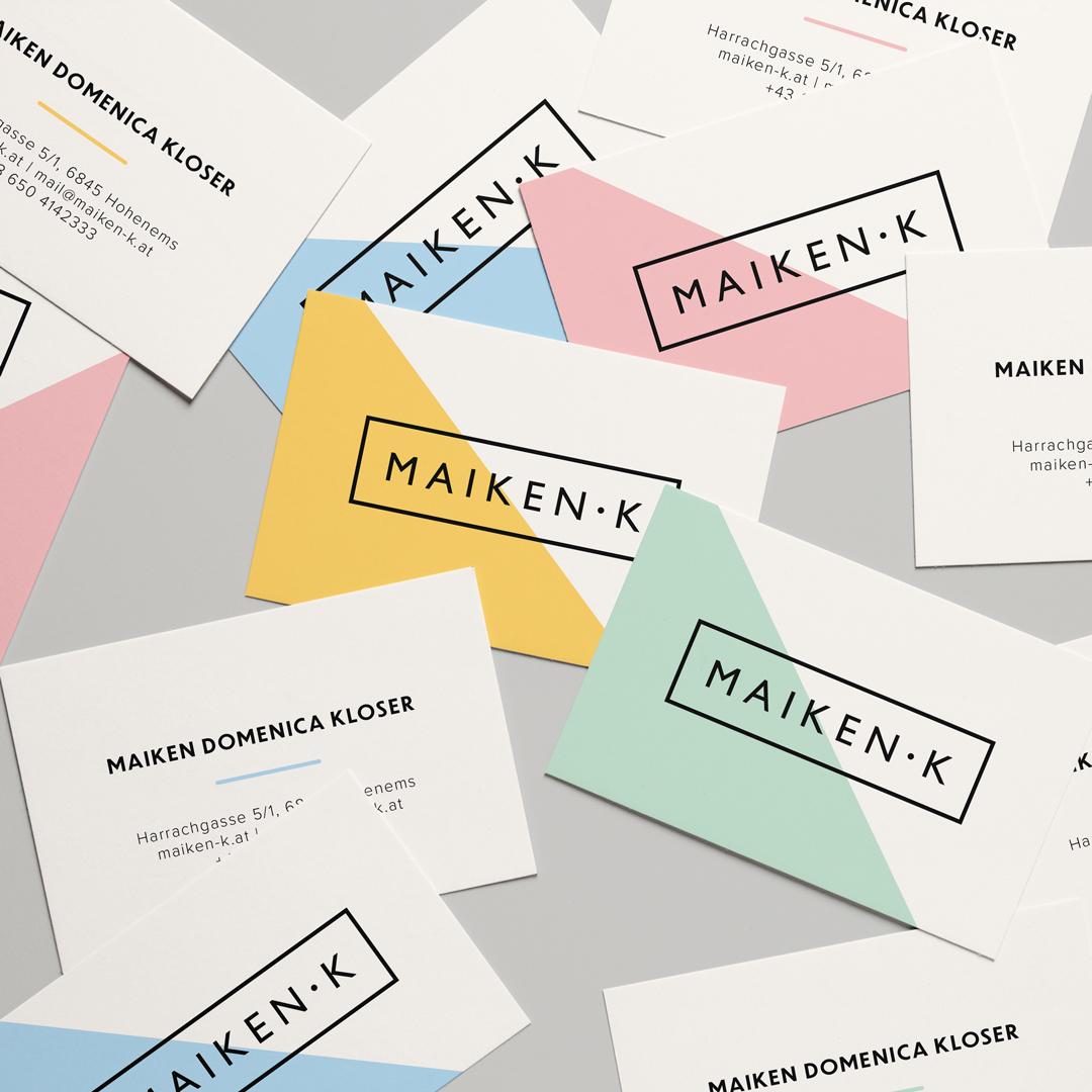 Maiken k Fashion Designer Hohenems Visitenkarten Brautmode
