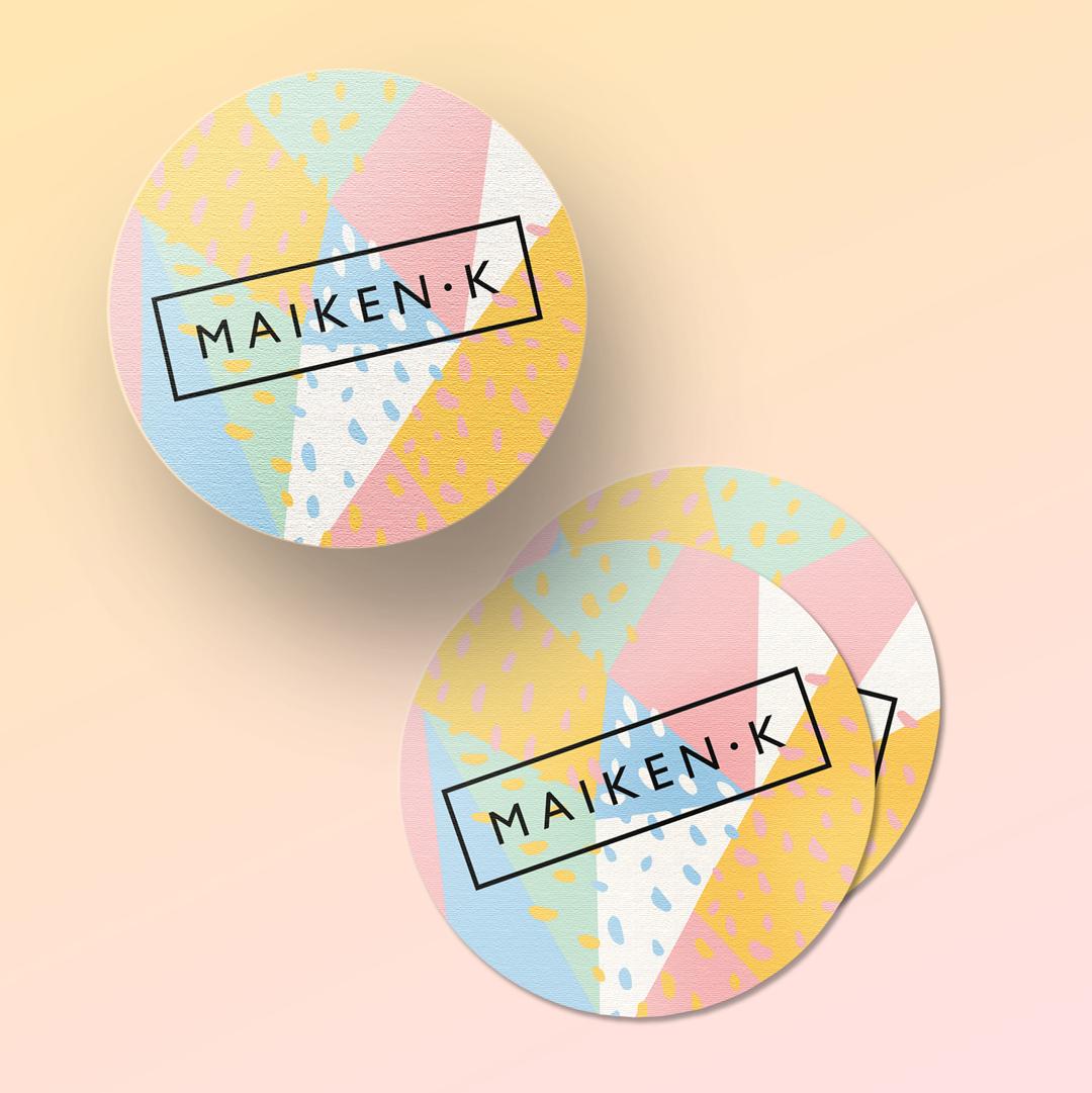 Maiken K Fashion designer Hohenems Sticker Brautmode