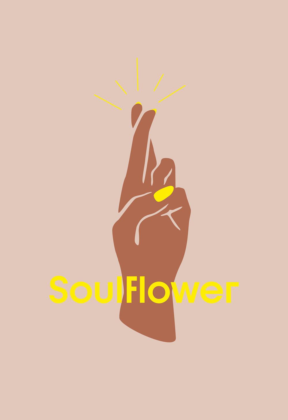 Soulfower California Florist Logo Start