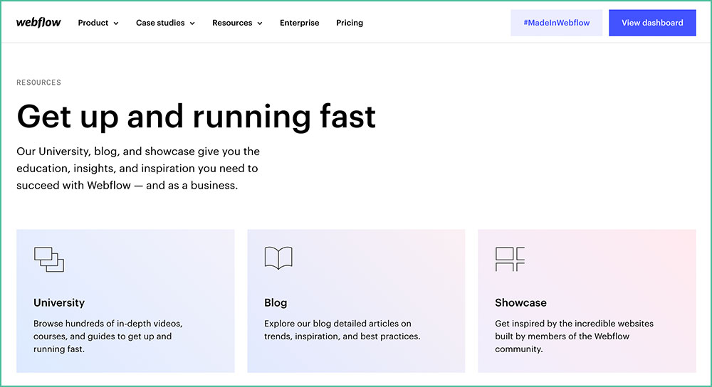 Webflow Home Page