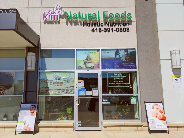 Kim Natural Foods Don Mills Store in the Diamond Mall, corner of Don Mills Rd and Mallard