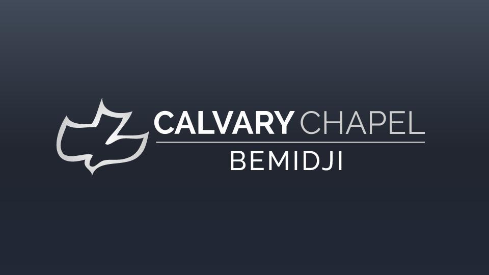 Calvary Chapel Bemidji logo with gradient blue background