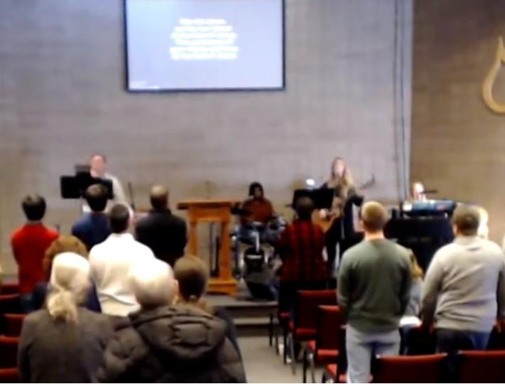 Worship service at Calvary Chapel Bemidji