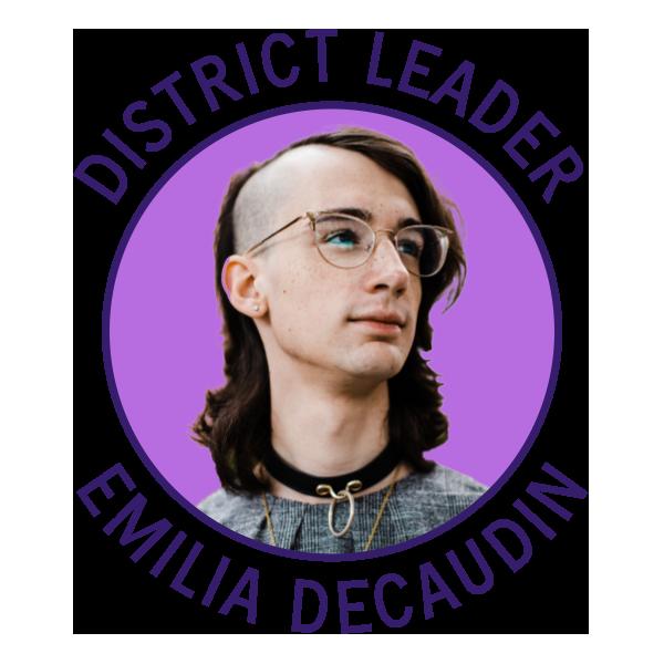 District Leader Emilia Decaudin