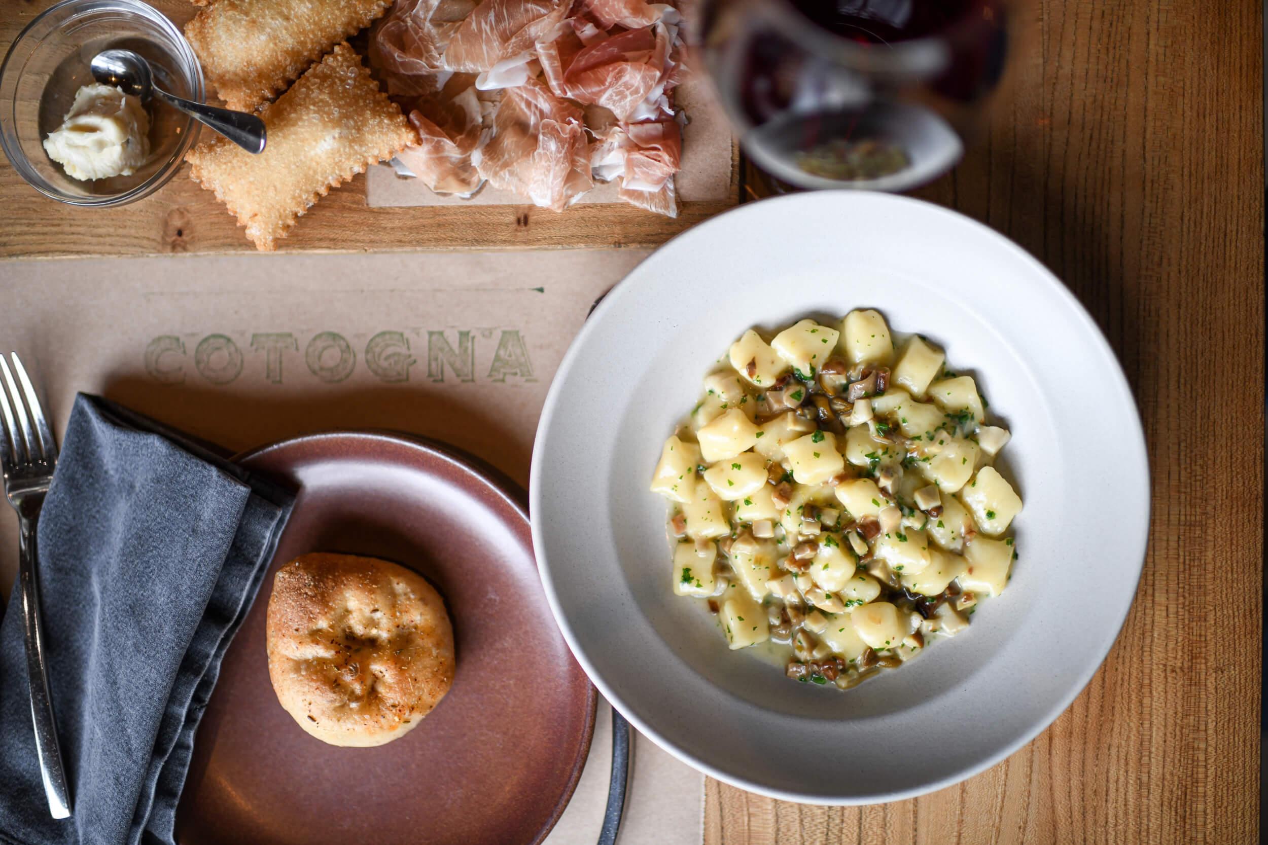 a plate of fresh Gnocchi