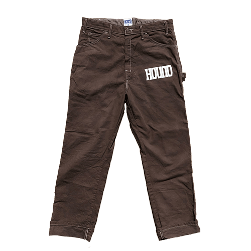 Hand-dyed Dickies Painter pants with our logos puff printed on front and back.
