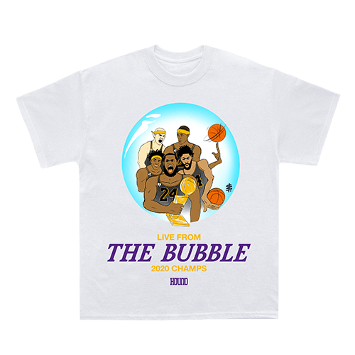 The Lakeshow has conquered The Bubble. This team fought through doubt, pressure, and mourning to succeed at the highest level of competition. Be apart of history and rep your 2020 champions.‍ Artwork by @JoeColors