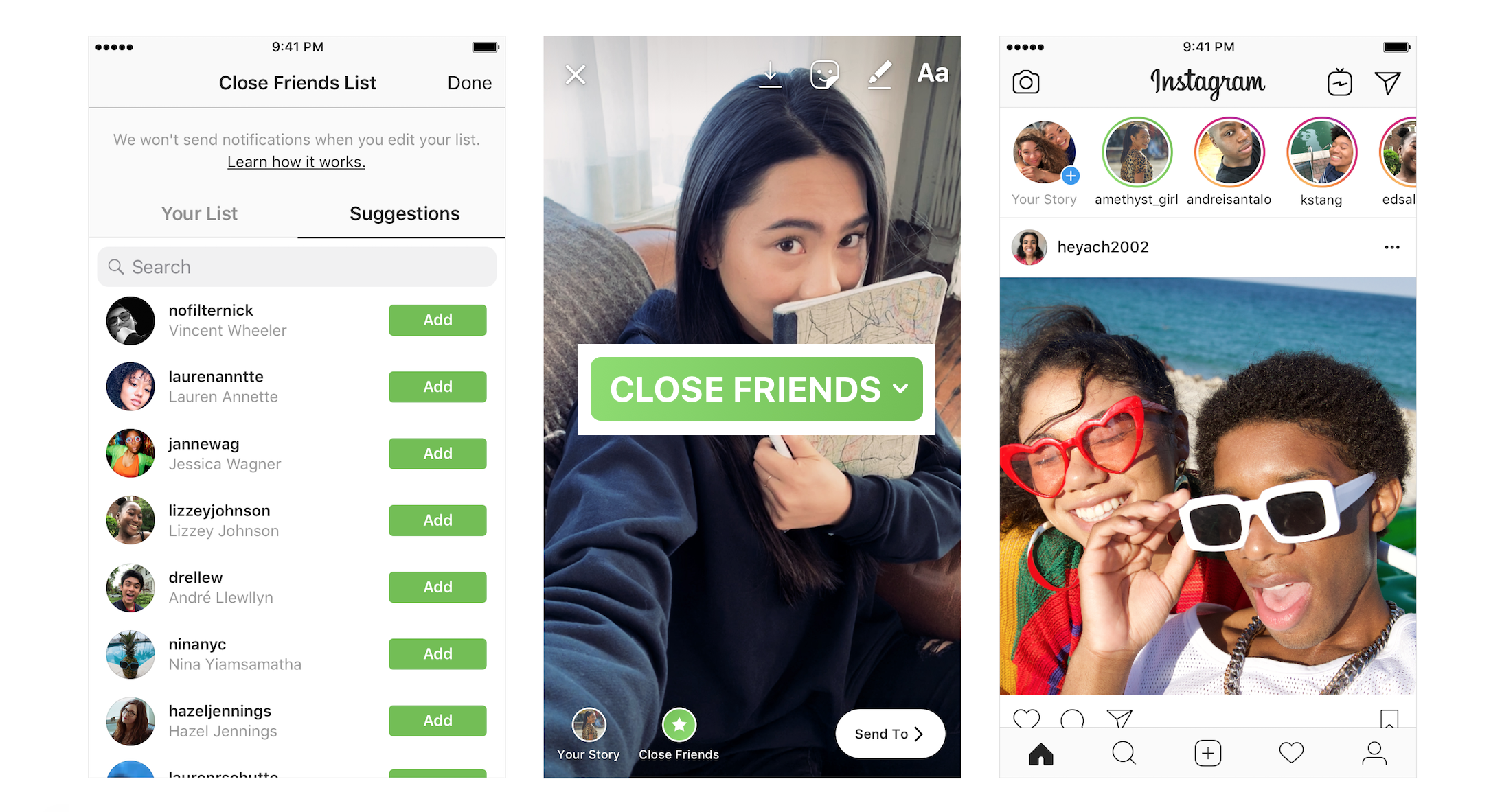 Instagram now lets you share Stories to a Close Friends list | TechCrunch