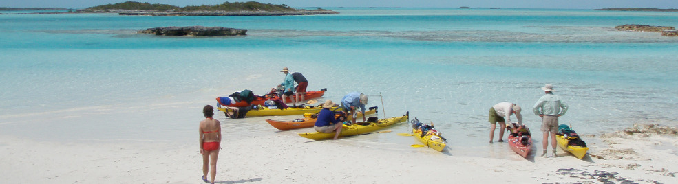Crystal blue warm waters, pristine white sand beaches, warm, golden sun, and dazzling sunsets. Our expedition along the chain of beautiful tropical islands which form the Exumas in the Bahamas is as close to paddling in paradise as you can get.