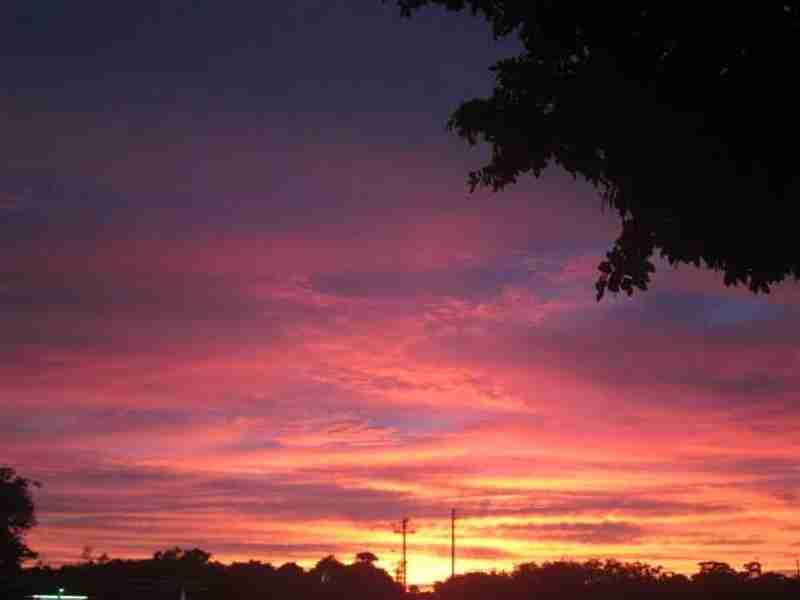 A magnificent sunset over Parish Park.