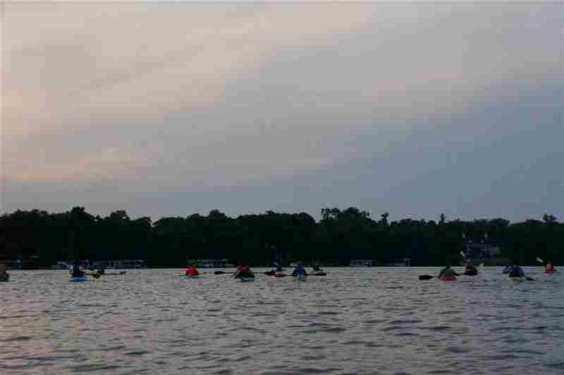 Kayakers being excited during our full moon tour.