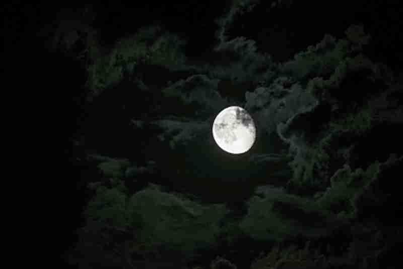 A magnificent full moon.