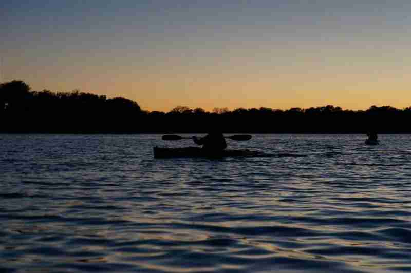 Our tour guests enjoying a beautiful sunset.
