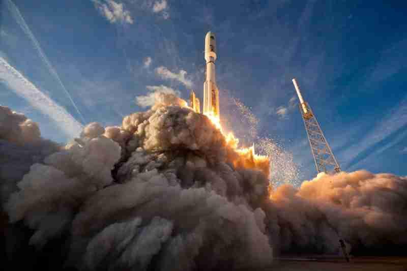 Atlas 5 launch MUOS 1 liftoff 5.