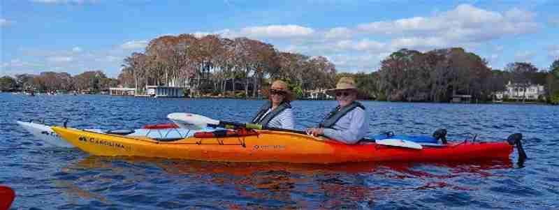 Kayakers enjoying the gorgeous scenery.