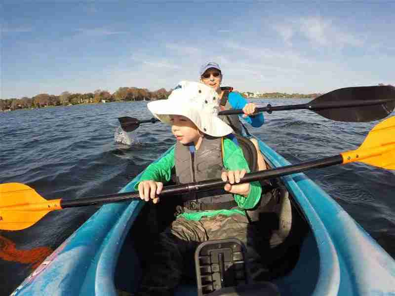 A kayak adventure for the whole family.