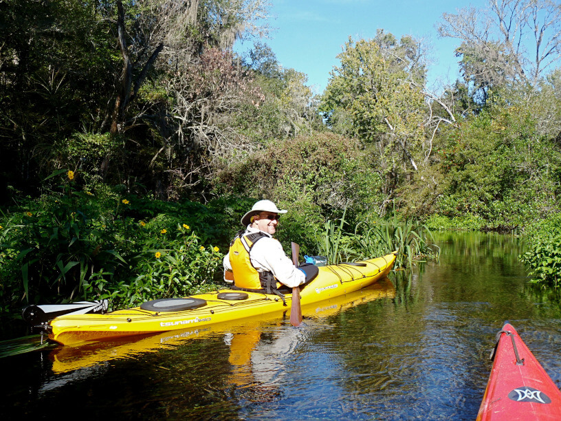 Kayaking enjoying a beautiful day on the Wekiva River.